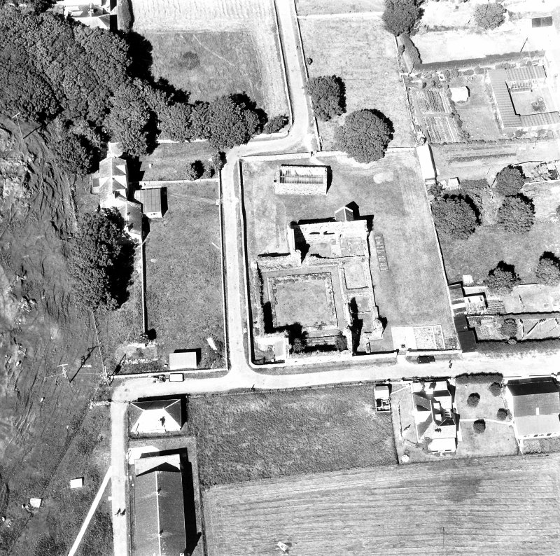 Iona, Iona Nunnery. Oblique aerial view from South-West.