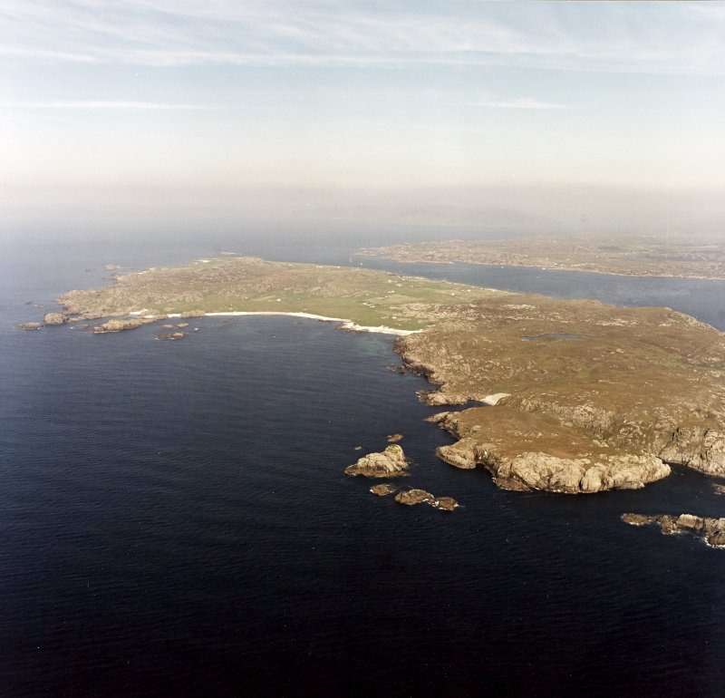 Iona, general. Oblique aerial view from South-West.