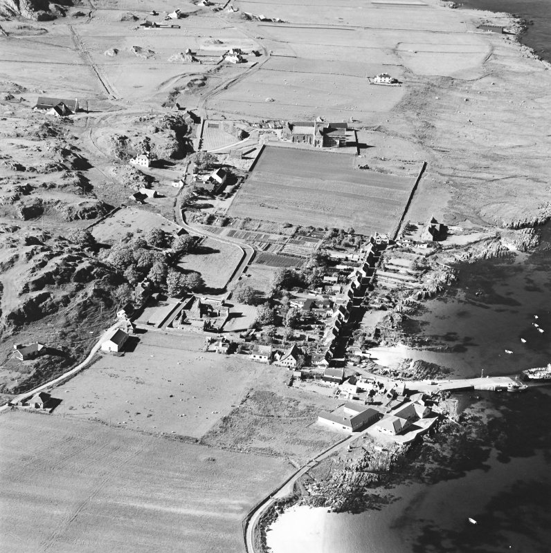 Oblique aerial view of Iona, taken from the south, centred on the town.