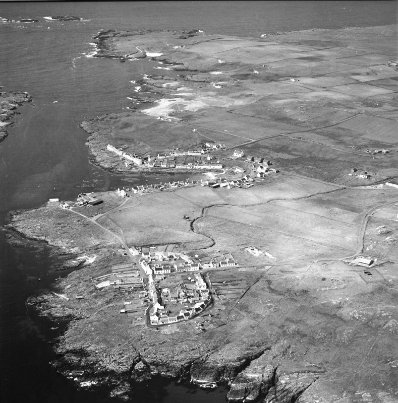 Oblique aerial photograph of Portnahaven and Port Wemyss Islay, taken from the SSE.