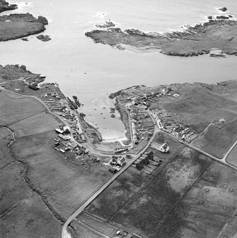 Oblique aerial photograph of Portnahaven, Islay, taken from the NE.
