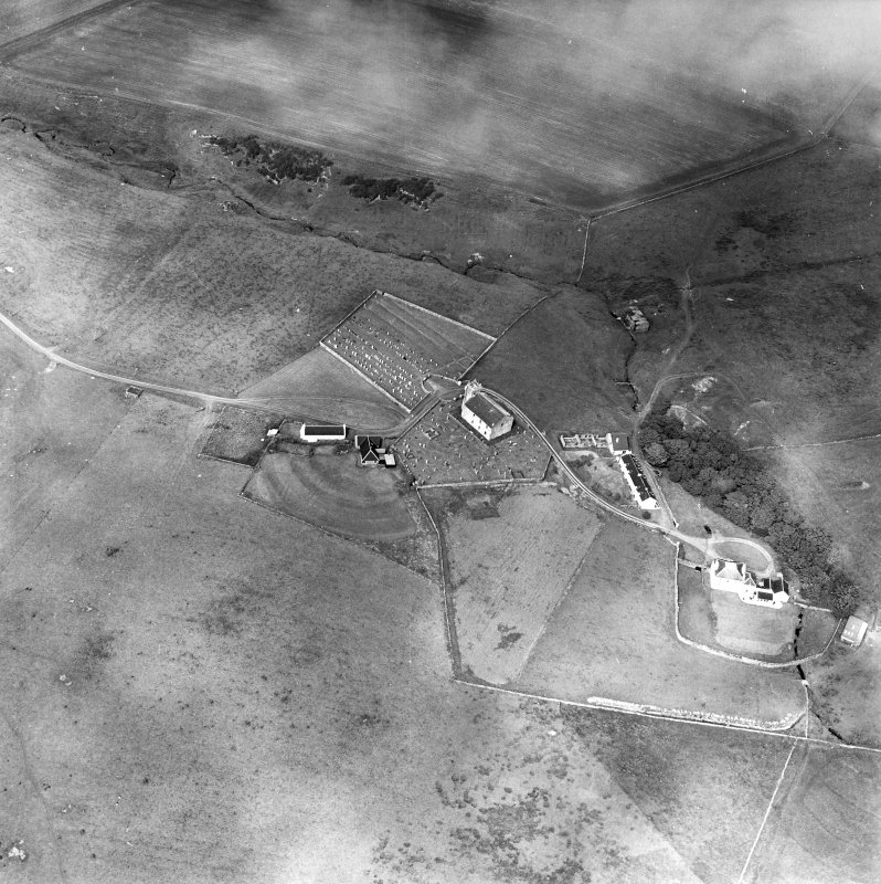 Oblique aerial photograph of Kilchoman, Islay, taken from the SSW.