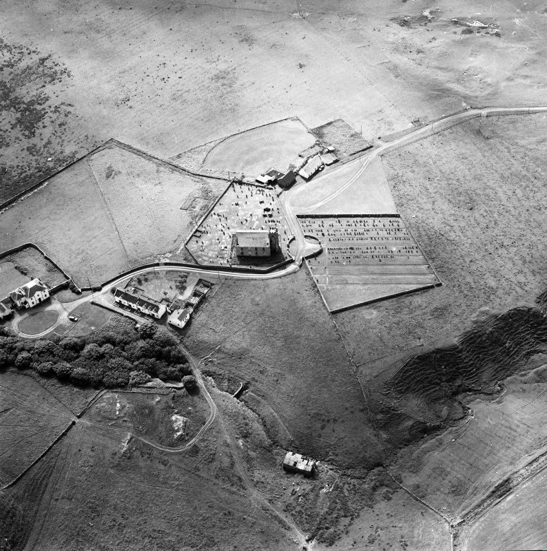 Oblique aerial photograph of Kilchoman, Islay, taken from the ENE.