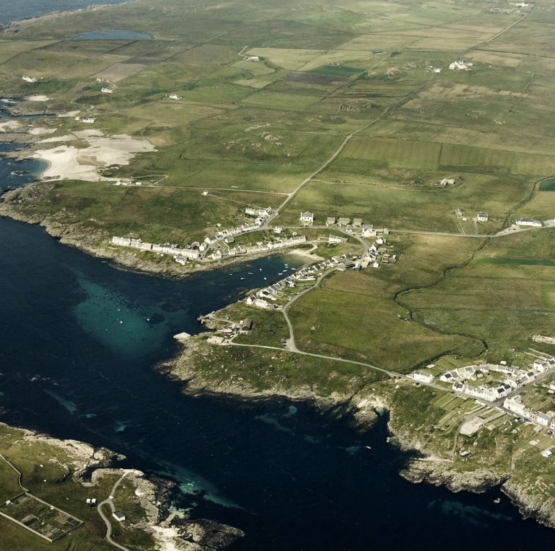 Oblique aerial photograph of Portnahaven and Port Wemyss, Islay, taken from the SSW.
