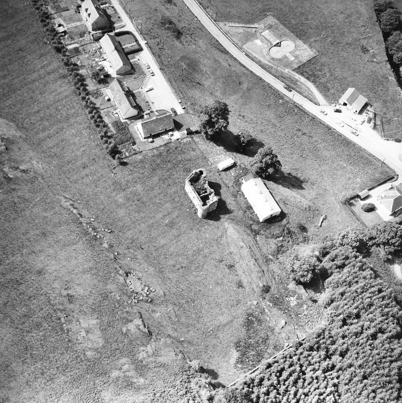 Kilmartin, Kilmartin Castle. Oblique aerial view from North.