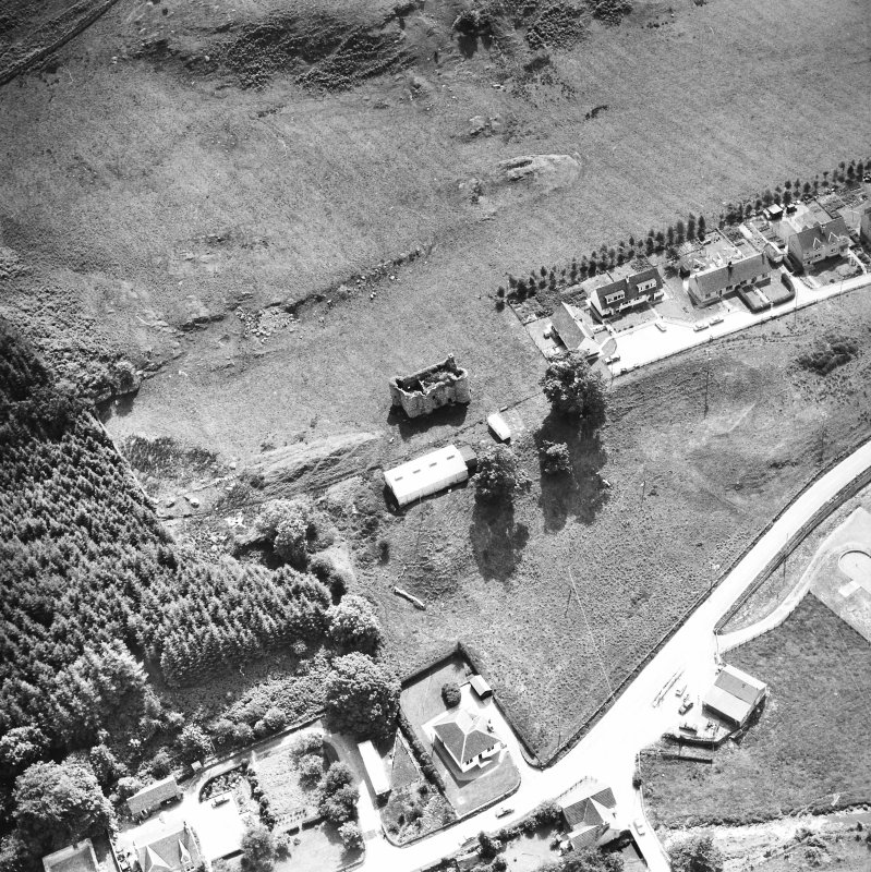 Kilmartin, Kilmartin Castle. Oblique aerial view from North-West.