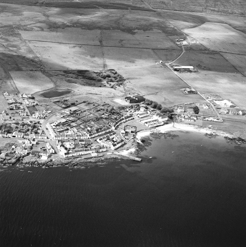 Oblique aerial photograph of Port Charlotte, Islay, taken from the E.