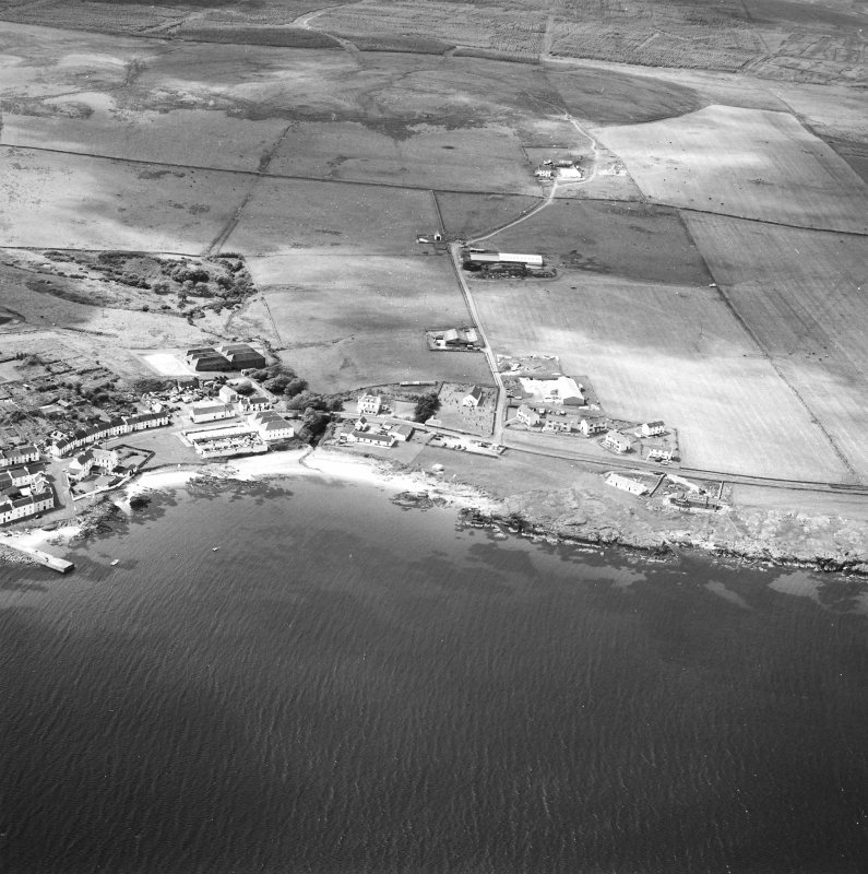 Oblique aerial photograph of Port Charlotte, Islay, taken from the SE.
