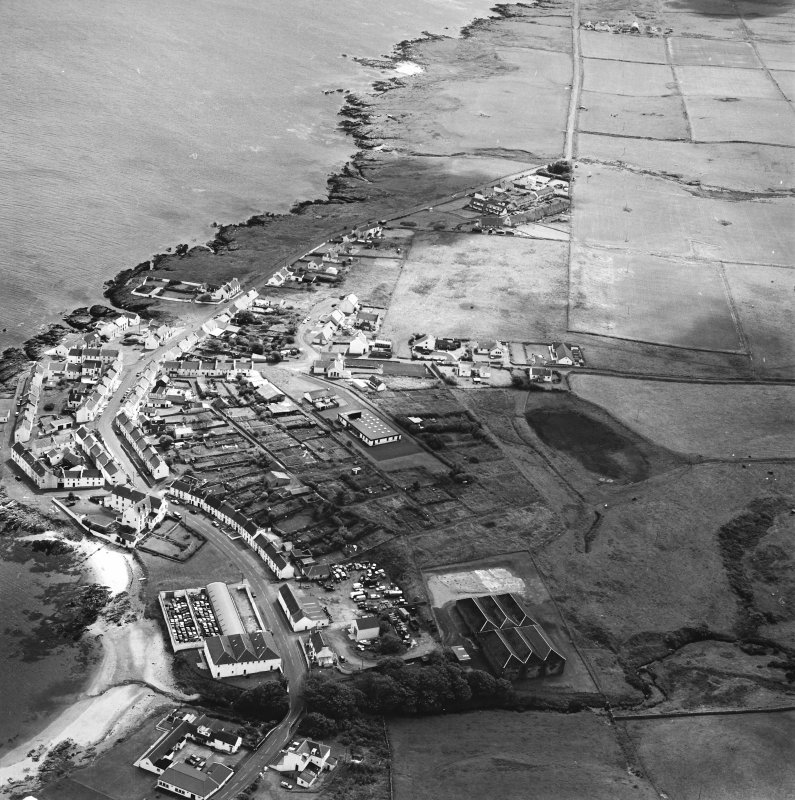 Oblique aerial photograph of Port Charlotte, Islay, taken from the N.