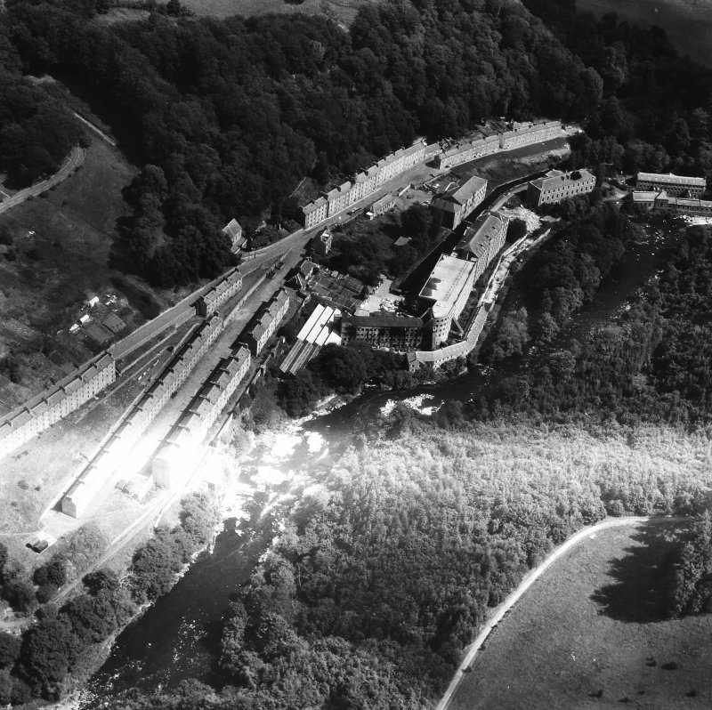 Aerial view of New Lanark