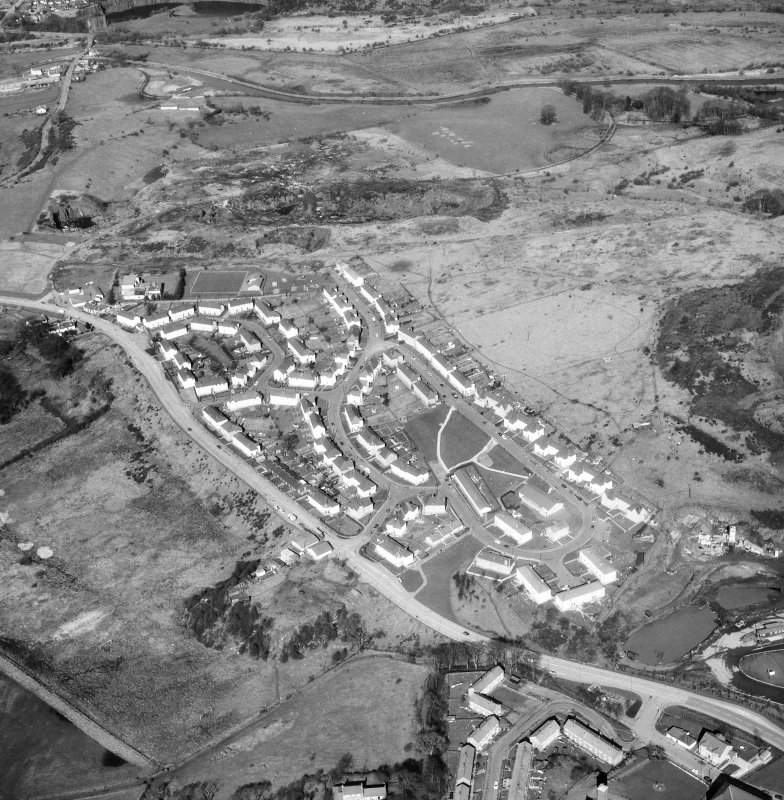 Aerial view of section of Antonine Wall at Croy.