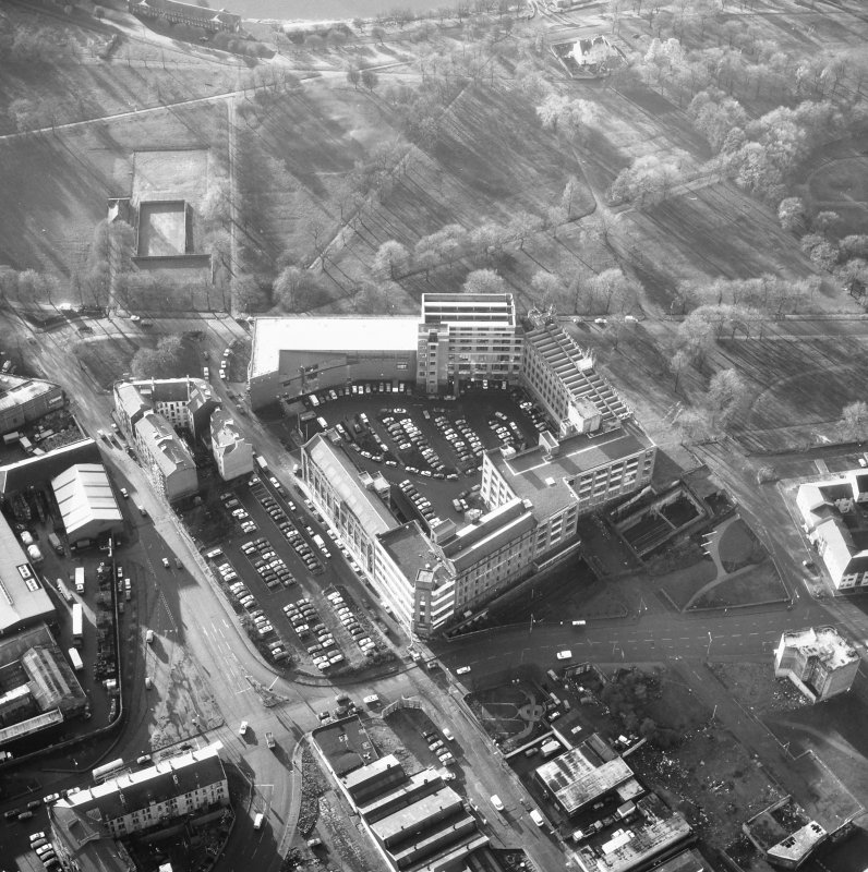 Glasgow, 62 Templeton Street, Templeton Carpet Factory. General aerial view.