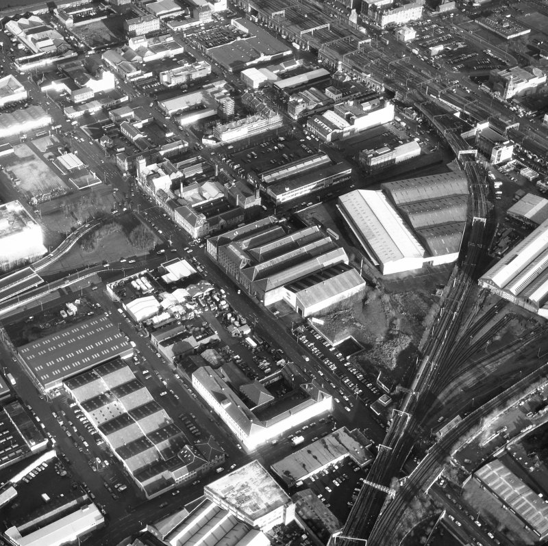 Glasgow, Cook Street, Eglinton Engine Works. Oblique aerial view.
