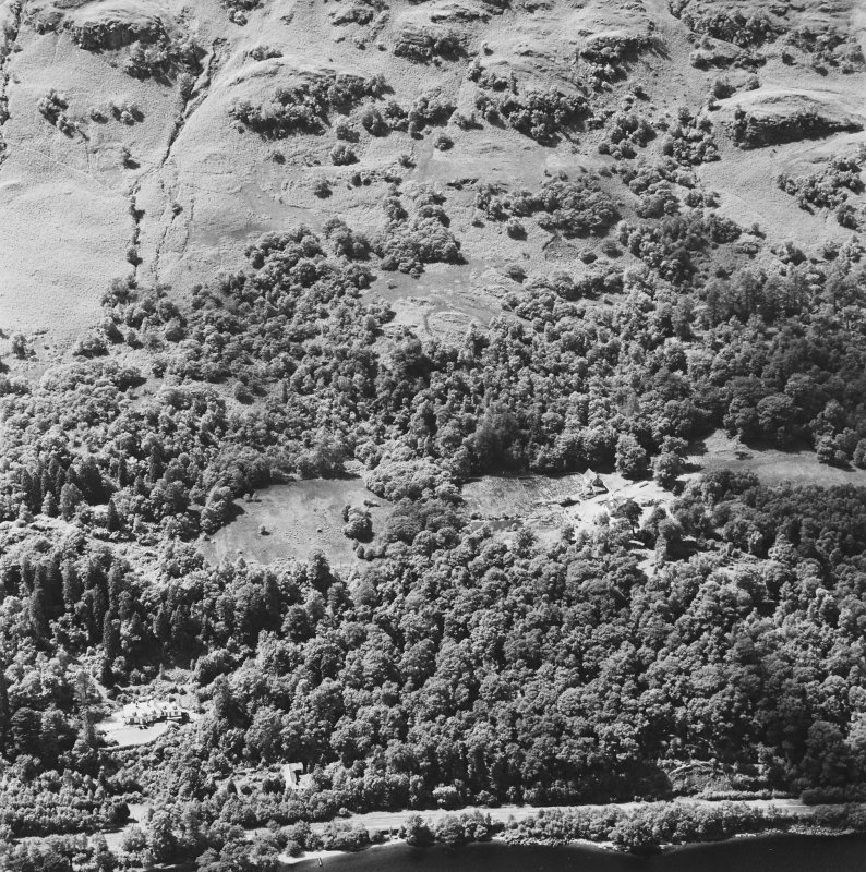 Oblique aerial view of Stuckgowan House, taken from the E.