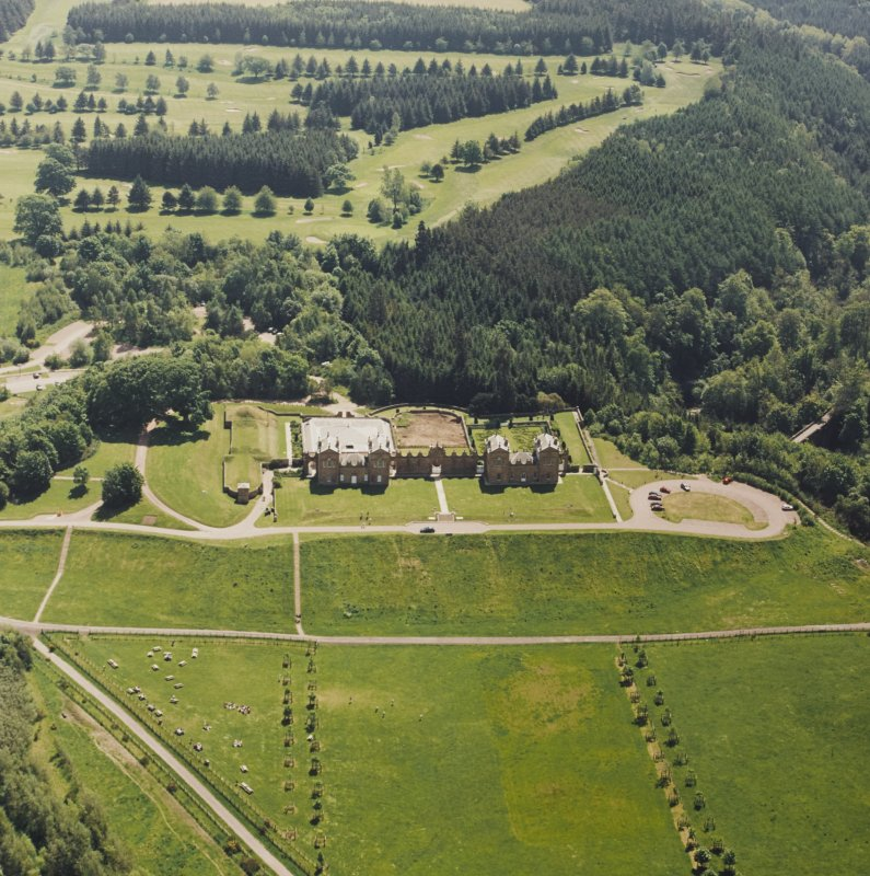 Aerial view of Chatelherault, taken from the NNW.
