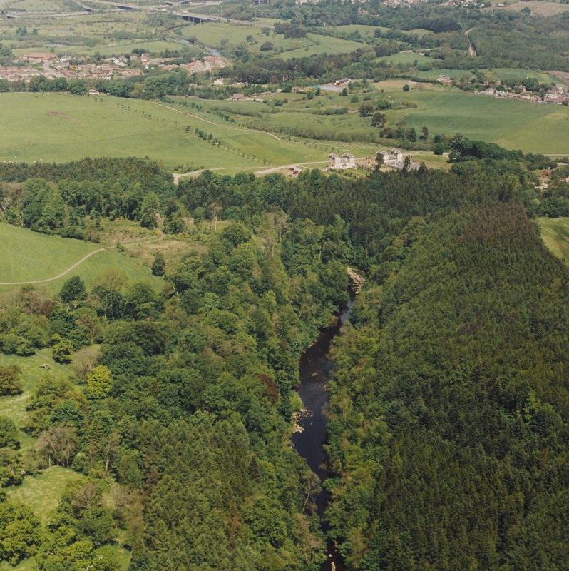 General aerial view of Chatelherault, taken from the S.