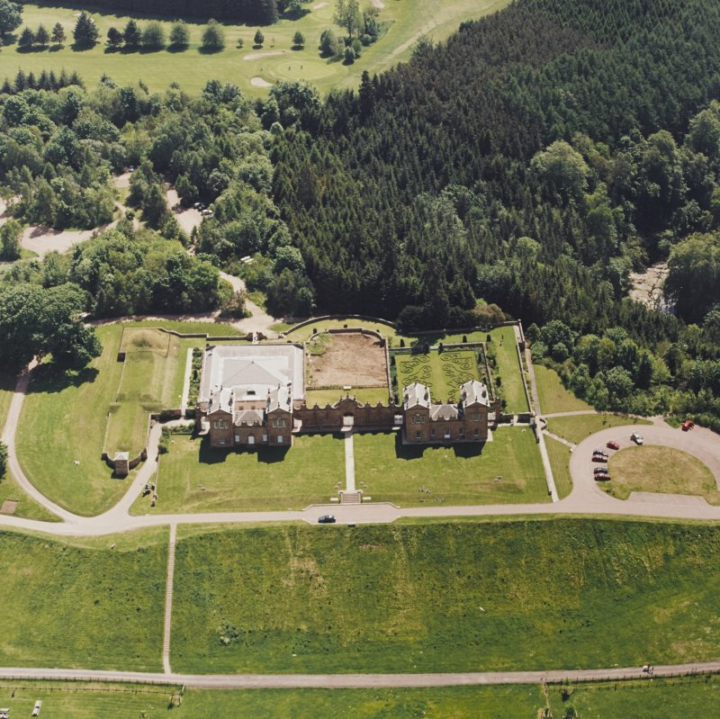 Aerial view of Chatelherault, taken from the NNE.