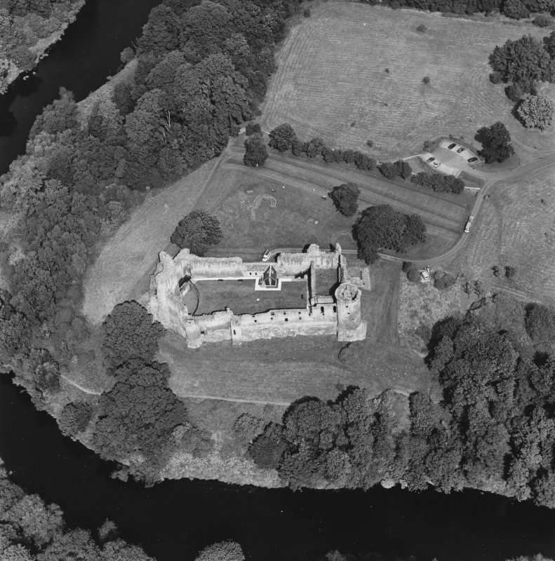 Bothwell Castle, oblique aerial view, taken from the S.
