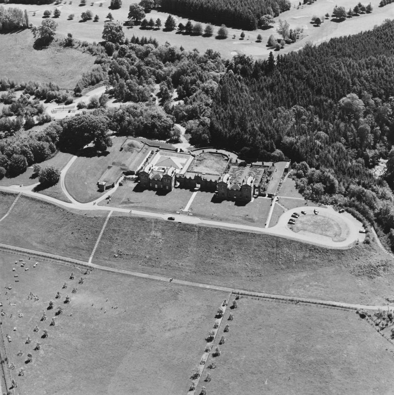 Aerial view of Chatelherault, taken from the NW.