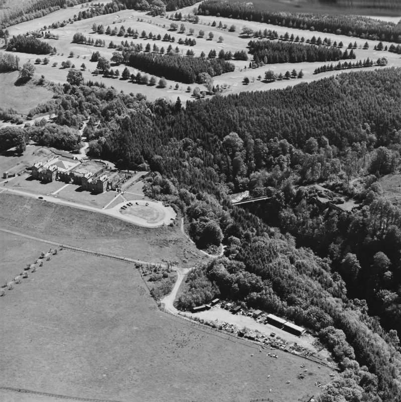 Aerial view of Chatelherault, Cadzow Castle and the Duke's Bridge, taken from the NW.