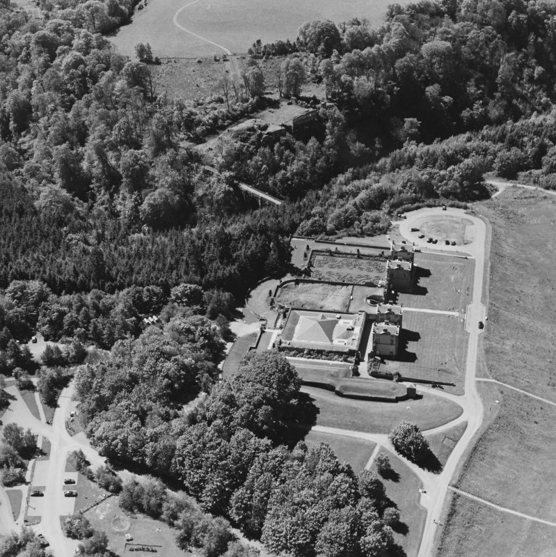 Aerial view of Chatelherault, Cadzow Castle and the Duke's Bridge, taken from the NE.