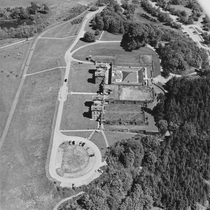 Aerial view of Chatelherault, taken from the SW.