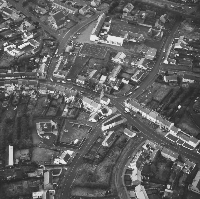 Aerial view of Kilmaurs Town Centre