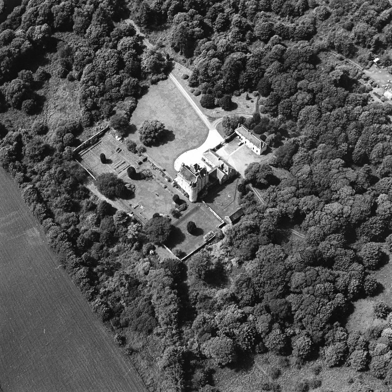 Oblique aerial photograph of Killochan Castle taken from the SE.