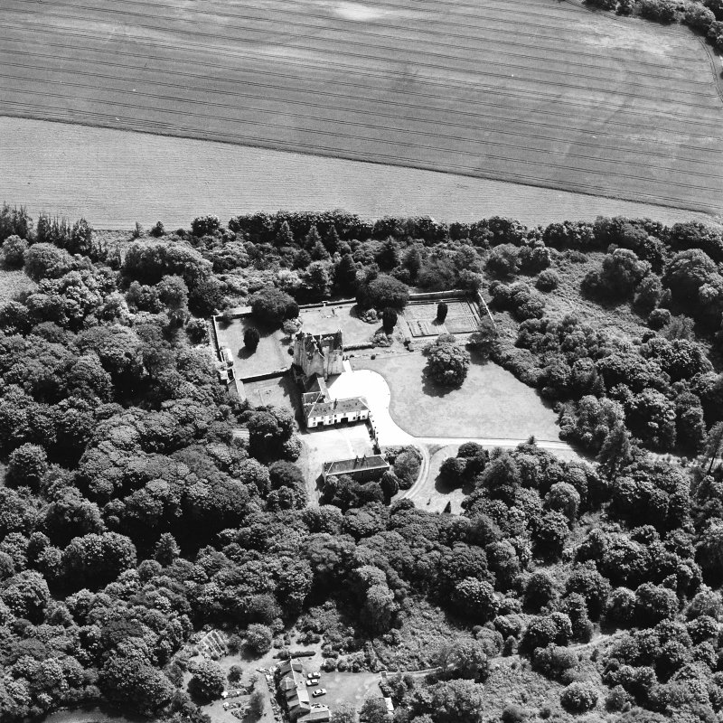 Oblique aerial photograph of Killochan Castle taken from the N.