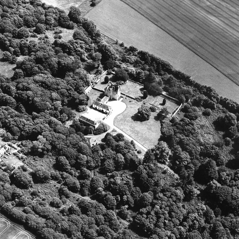 Oblique aerial photograph of Killochan Castle taken from the NW.
