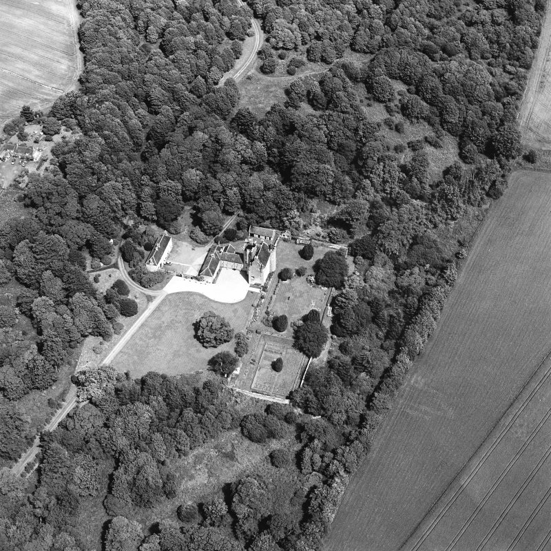 Oblique aerial photograph of Killochan Castle taken from the SW.