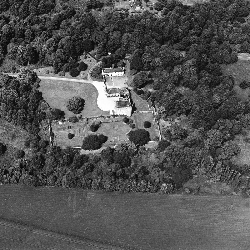 Oblique aerial photograph of Killochan Castle taken from the S.