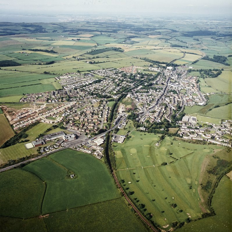 General oblique view centred on the town, taken from the SW.
