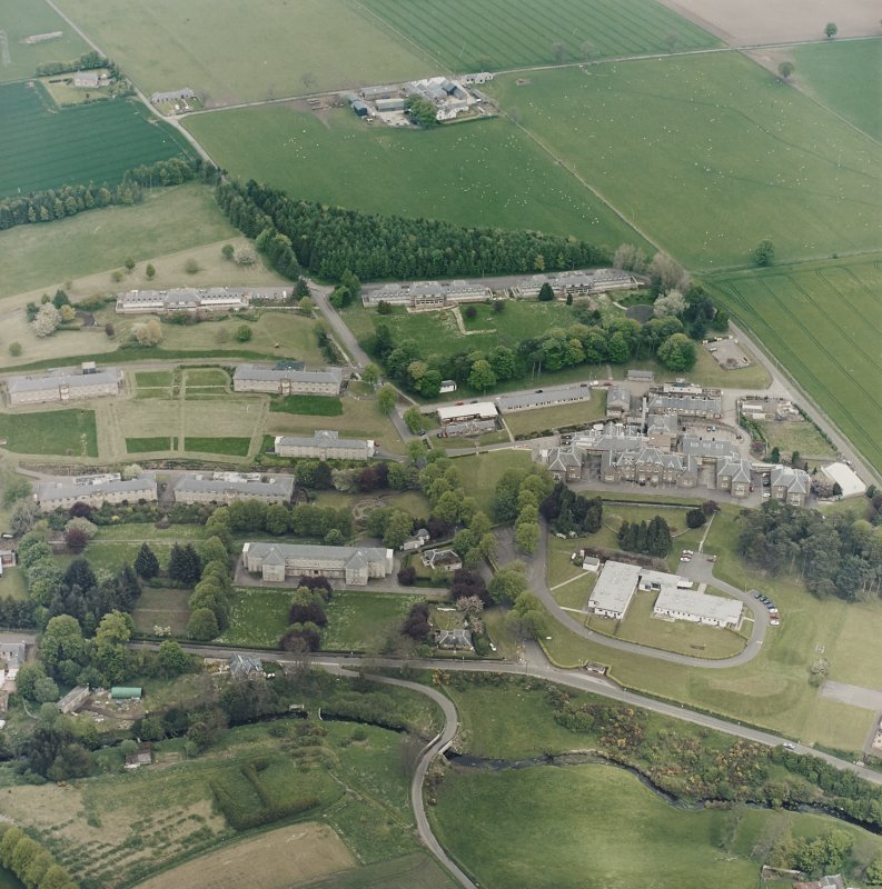 Oblique aerial view of the hospital, taken from the SW.
