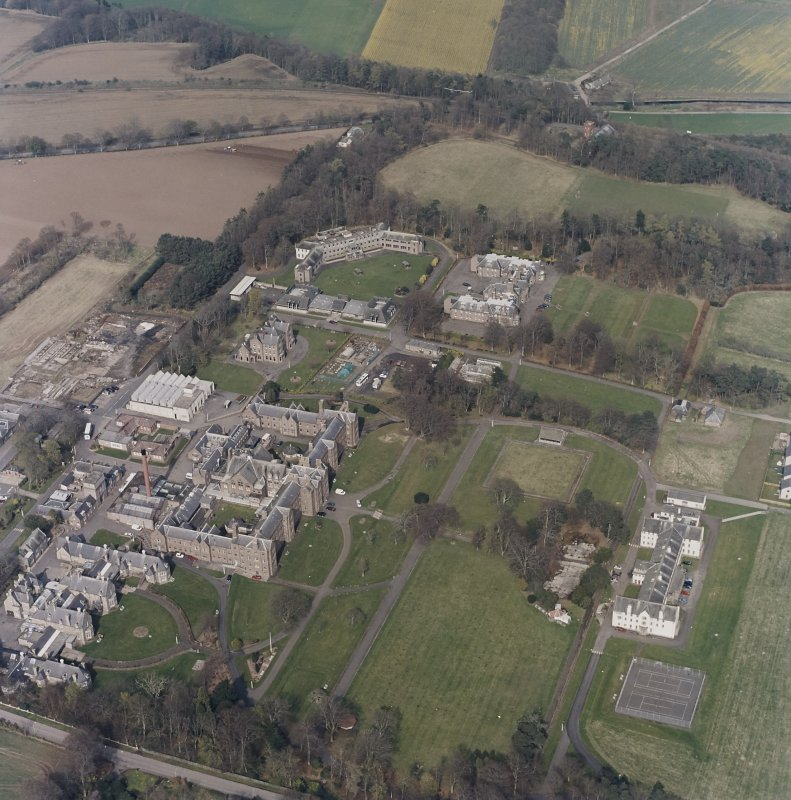 Oblique aerial view of the hospitals, taken from the SW.