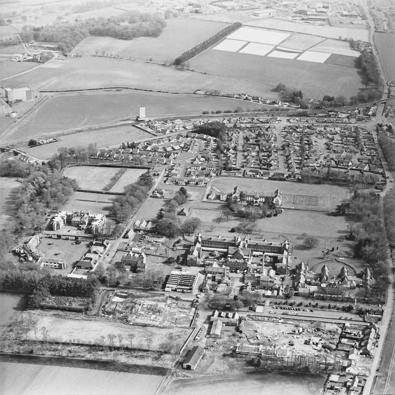 Oblique aerial view of the hospitals, taken from the NW.