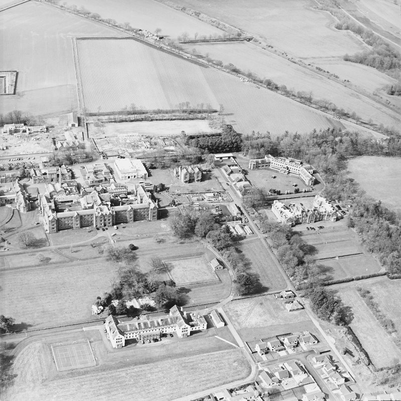 Oblique aerial view of the hospital, taken from the SE.