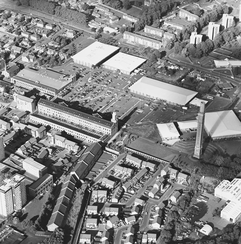 Oblique aerial view of Camperdown Works and Cox's Stack, taken from the SSE.