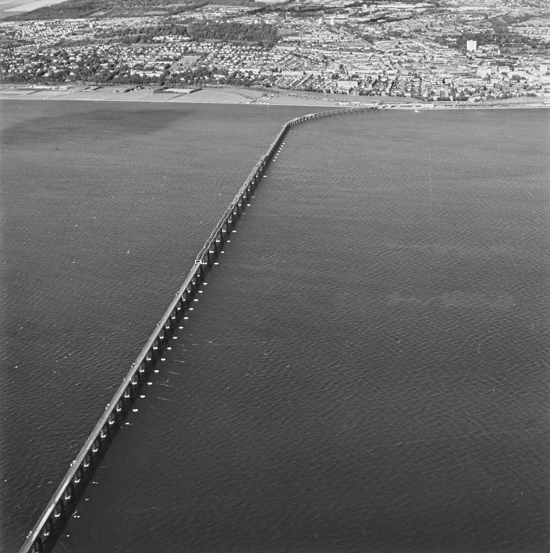 Oblique aerial view of the Tay Bridge, taken from the SE.