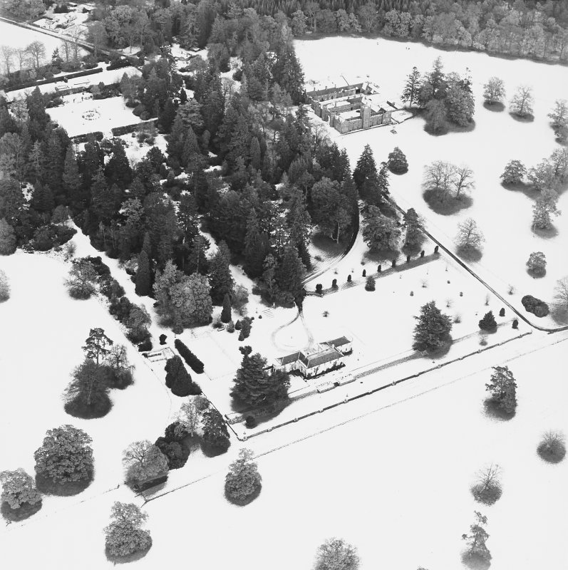 Abercairny House, oblique aerial view, taken from the SW.