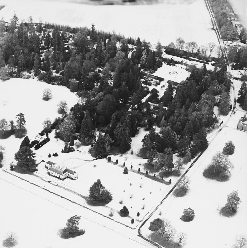 Abercairny House, oblique aerial view, taken from the SSE.