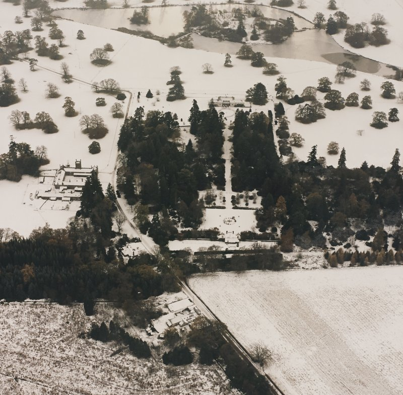 Abercairny House, oblique aerial view, taken from the N.