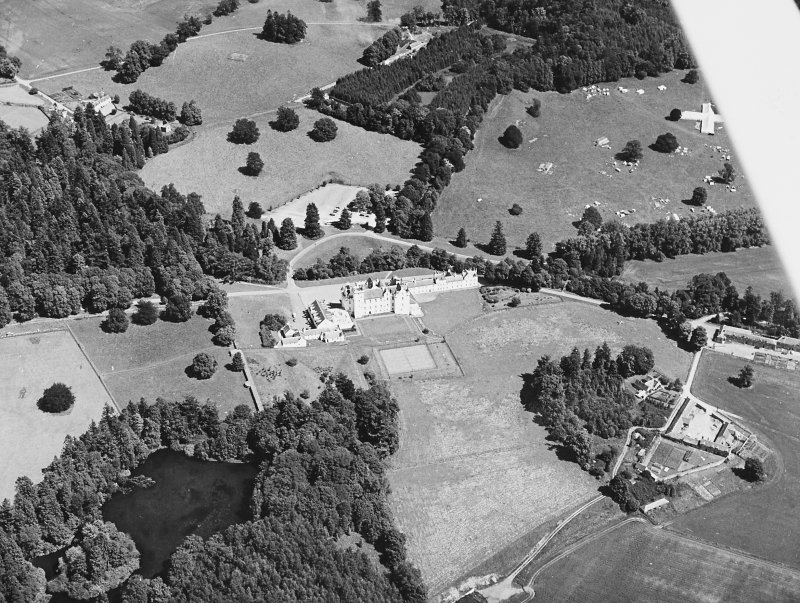 Blair Castle. Oblique aerial photograph.
