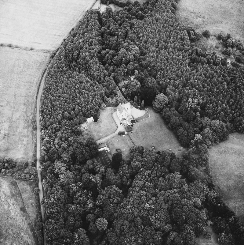 Cleish Castle. General oblique aerial view.