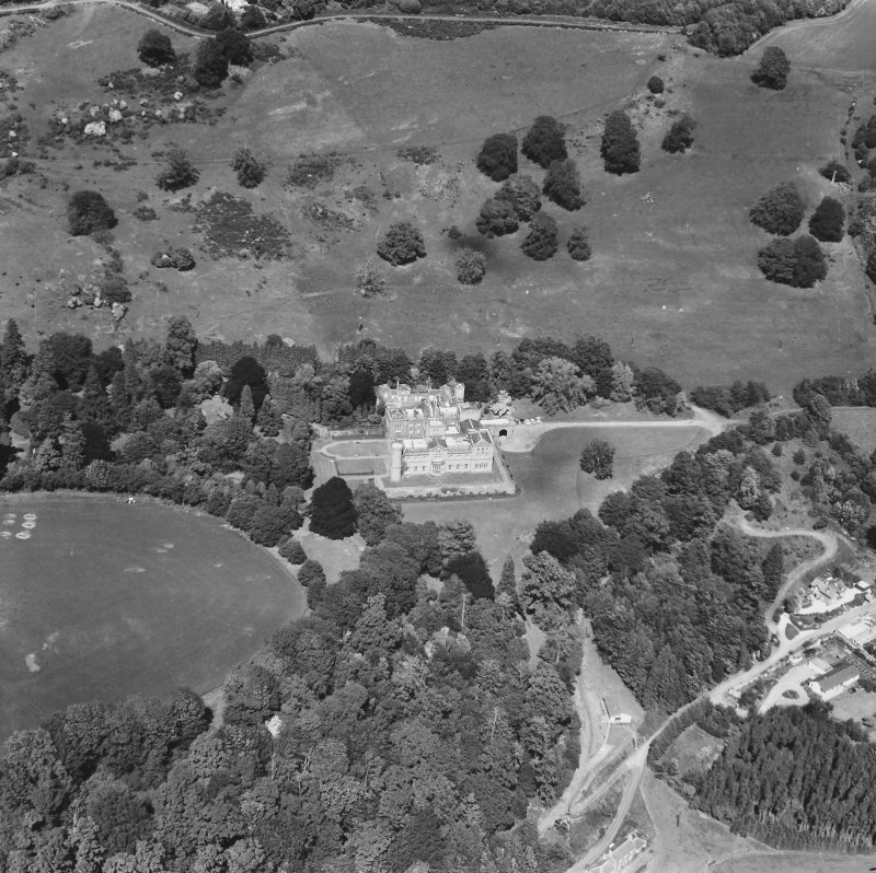 Kinfauns Castle. General aerial view.