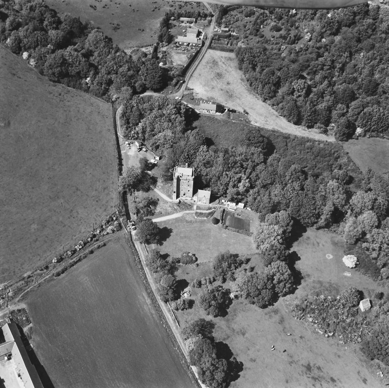 Kinnaird Castle. General oblique aerial view.