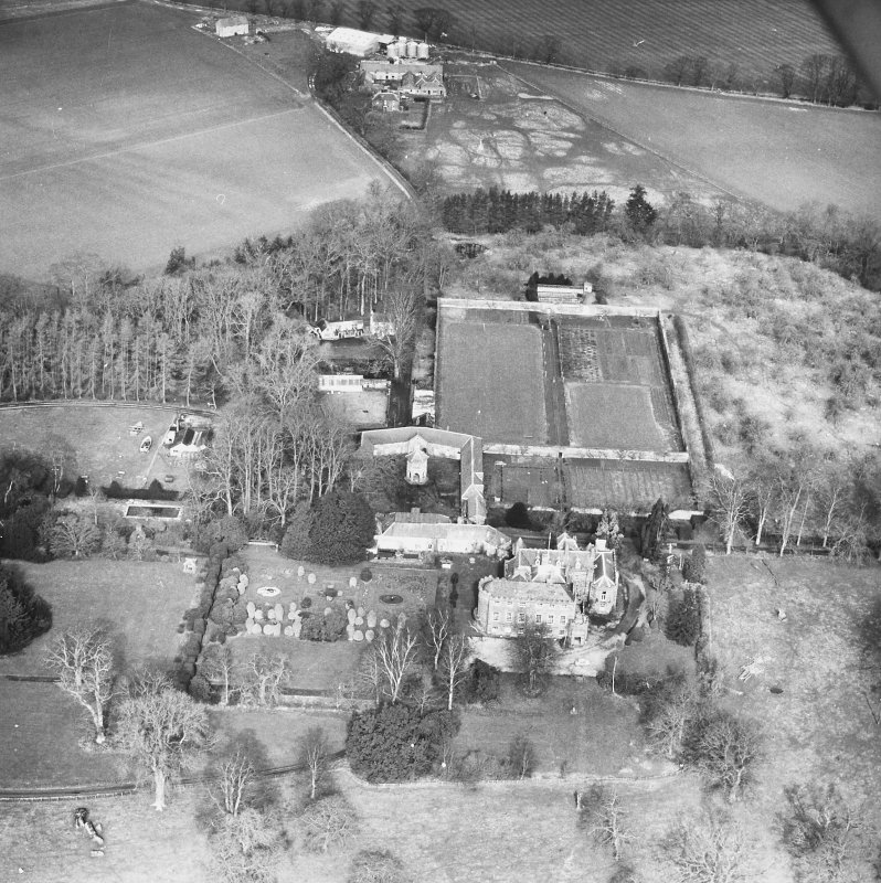 Megginch Castle. General aerial view.