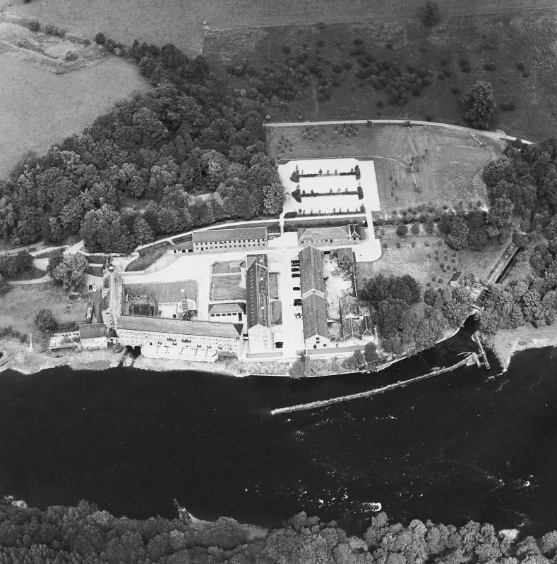 Oblique aerial view centred on the mill, taken from the S.
