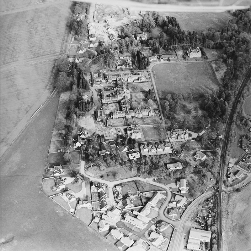 Oblique aerial view of the hospital, taken from the NW.