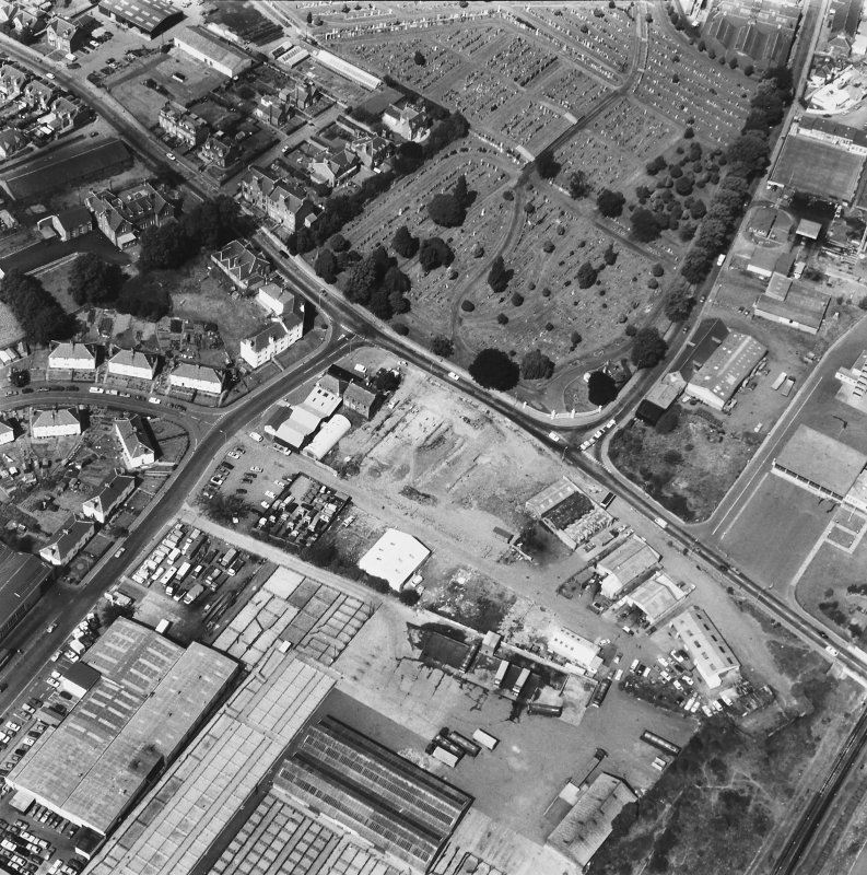 Perth, Whitefriars Street, Carmelite Friary. General aerial view of excavation.